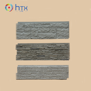 3D pu wall panels decorative polyurethane artificial faux stone slabs