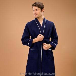 c165abb990 China men s waffle bathrobe wholesale 🇨🇳 - Alibaba