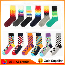 High Quality Argyle Design Men Socks Happy Socks Design 2016 Argyle Men Cotton Socks