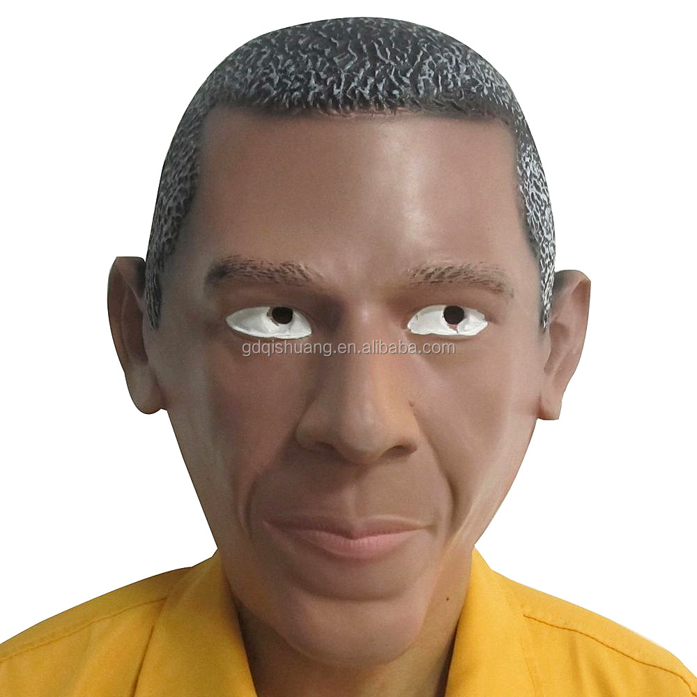 Latex halloween mask Obama face mask role play mask