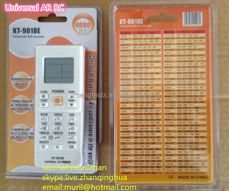 High Quality White Buttons KT-9018E Universal Air-conditioner Remote  Control ZF Universal A/C REMOTE, View universal a/c control system, ZF  Product