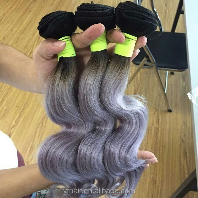 New fashionable hair top quality can be dyed & bleached human hair gray hair weave/wig popular in US,UK