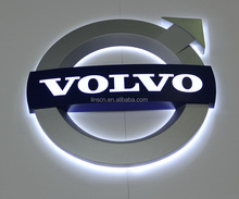 Custom made ชุบโครเมี่ยม thermo - formed ป้าย face led <span class=keywords><strong>โลโก้รถ</strong></span> volvo
