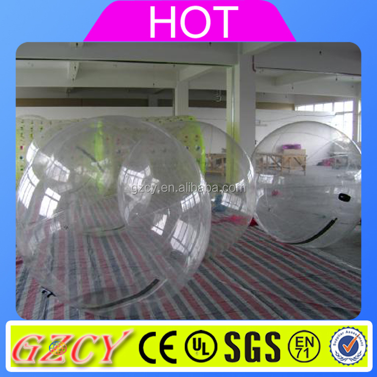 Clear inflatable water rolling ball, water zorb ball, water walking ball