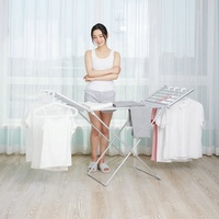 Heated Freestanding Folding Electric Portable Clothes Dryer