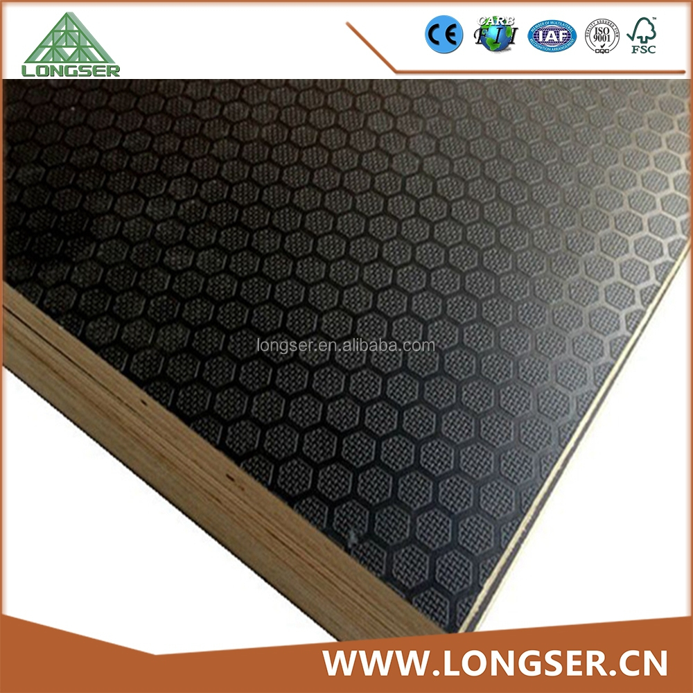 Laminated outdoor flooring anti slip plywood for shuttering