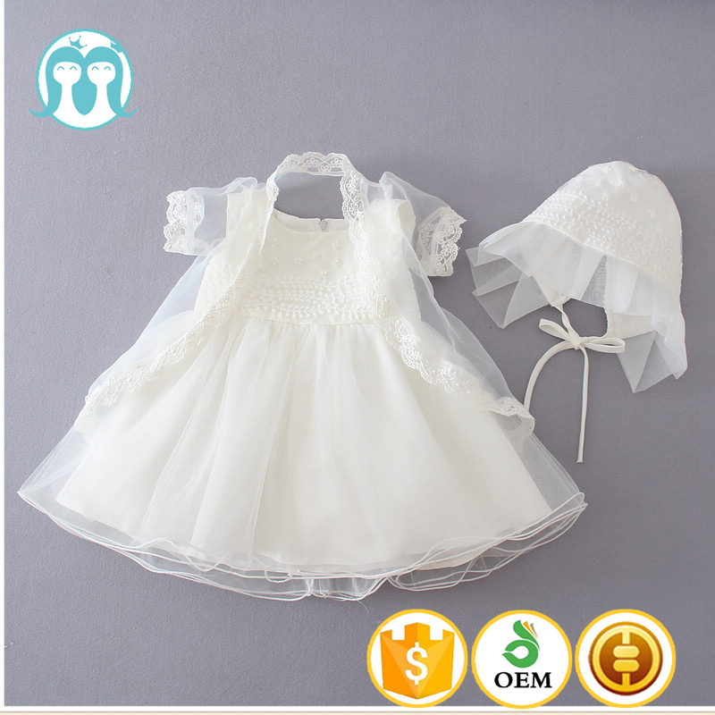 074373298 Bebê meninas vestido pouco chapéu de renda branca Jesus batismo vestido de  meninos e meninas de