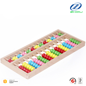 Wholesale high quality Toys Colorful Educational Wooden Beads Abacus for Kids