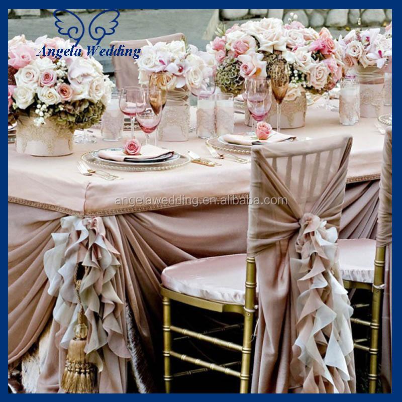 Sh001b Wholesale Cheap Elegant Fancy Pink Organza Wedding