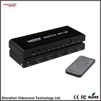4 Port HDMI Supports 3D 4x1 Switch with IR Remote Control