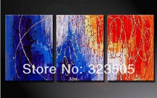 3pieces Modern Abstract Huge Wall Art Oil Painting On: Large-3-piece-modern-abstract-canvas-wall-art-hand-painted