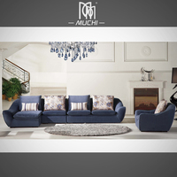 Contemporary Living Room Back Support Seat Single Latex Sofa