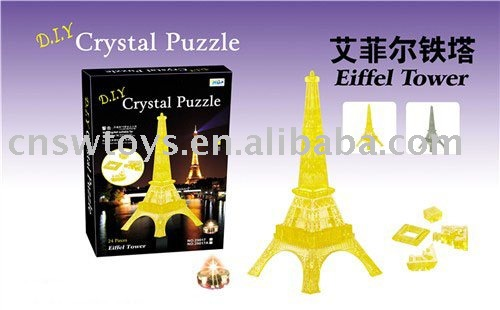 3d Crystal Puzzle (Eiffel Tower)