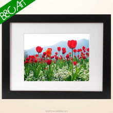 Attractive vivid red blooming canvas lily flower wall art