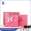 Custom high end gift paper bag for clothing with ribbon string
