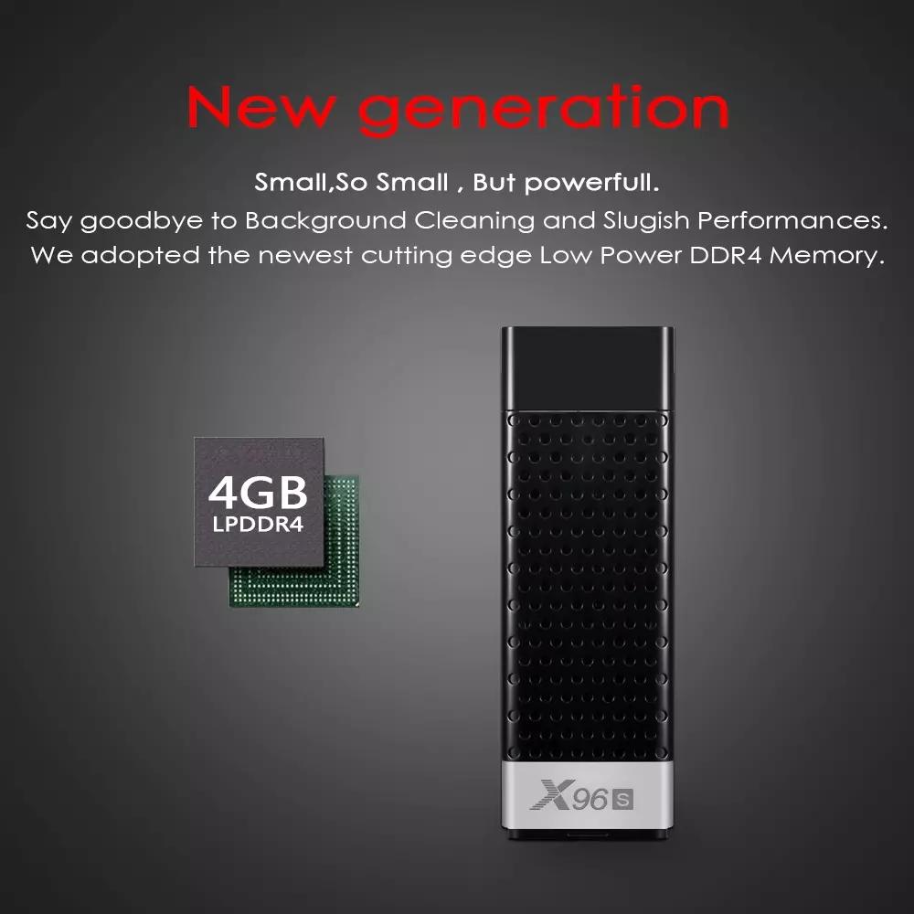 2020 sıcak satış android 8.1 TV çubuk mini pc X96S amlogic S905Y2 quad core mini pc akıllı tv kutusu sopa anycast dongle 2.4G/ 5.8G çift wifi