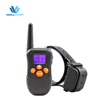 Shenzhen Wellturn Patent Design 330Yards Remote No Shock Dog Vibrating Trainer Collar With Lcd Display Screen