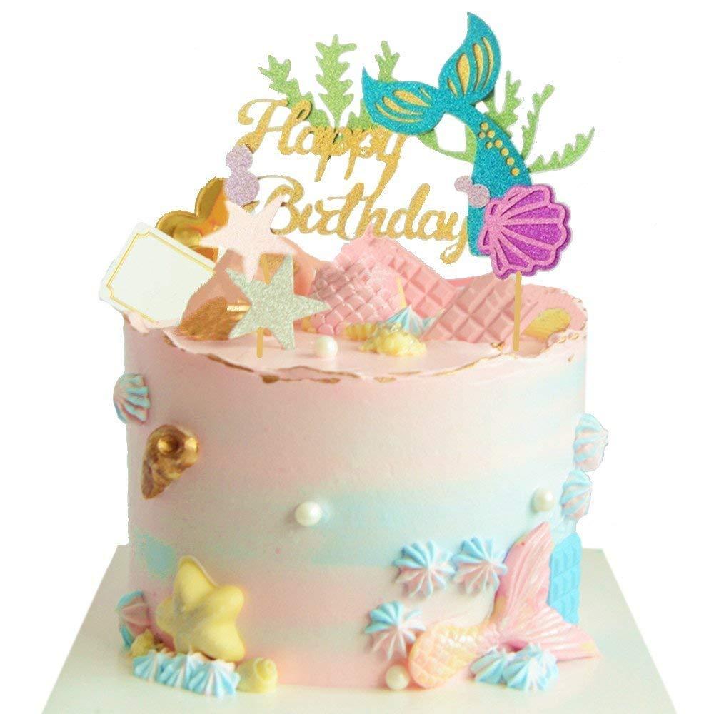 Awesome Cheap Mermaid Birthday Cake Find Mermaid Birthday Cake Deals On Personalised Birthday Cards Veneteletsinfo