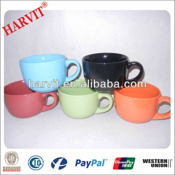 Color Glaze Stoneware Soup Mugs With Handle - Buy Soup Cup,Cheap ...