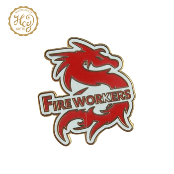 2019 Crafts Dragon Shaped Custom Blank Metal Pin Badge