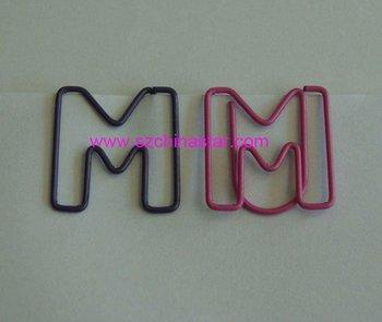 fancy letter m shapes paper clip