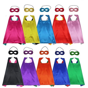 Halloween costume kids party super hero cape and mask superhero capes and masks