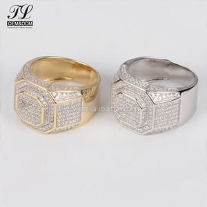 AAAAA bling bling cz pave little unique exclusive mens rings+designed jewelry simple gold ring designs