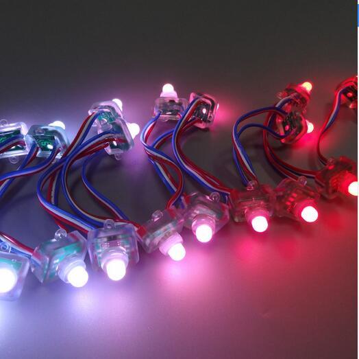 12 mm Full Color 5V 12V RGB Pixel LED String Light Light IP68 Square