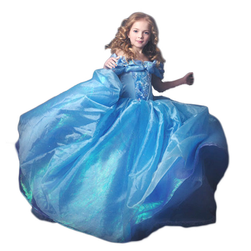 New Nip Disney Baby Girls Halloween Cinderella Costume 6: Baby Girls Dresses Summer 2015 Princess Cinderella Dress