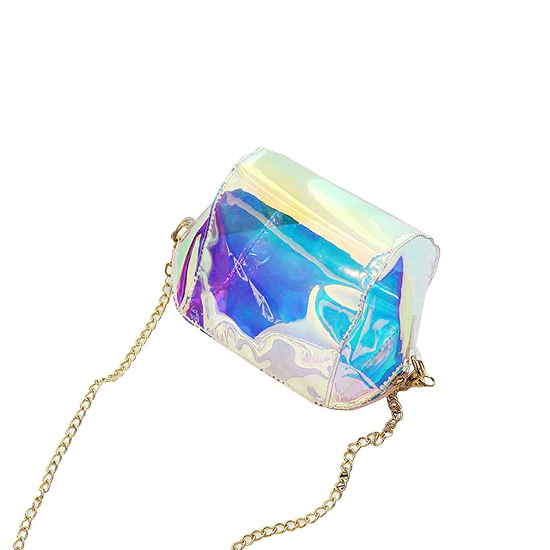 Tinksky Fashion Laser Hologram Crossbody Bag Shoulder Bag Shell Bag Christmas Birthday Gift for Women Girls