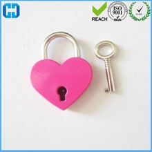 Alloy Heart Shaped Padlock Home Gym Lock Set Valentine's Day Gift