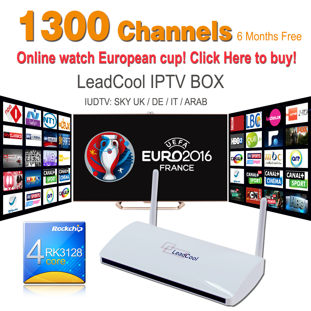 Sky UK DE IT Deutsch Indian Sport Max TV Box Leadcool Android 4 4 512M/8G  With Six Months Free Iptv Account 1300 Europe Channels - drone4sky