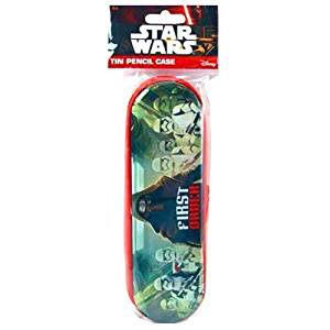 STAR WARS EP7 TIN ZIPPER PENCIL CASE IN POLY BAG WITH HEADER, Case of 120