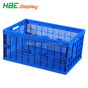 ventilated folding stackable storage plastic boxes with lids
