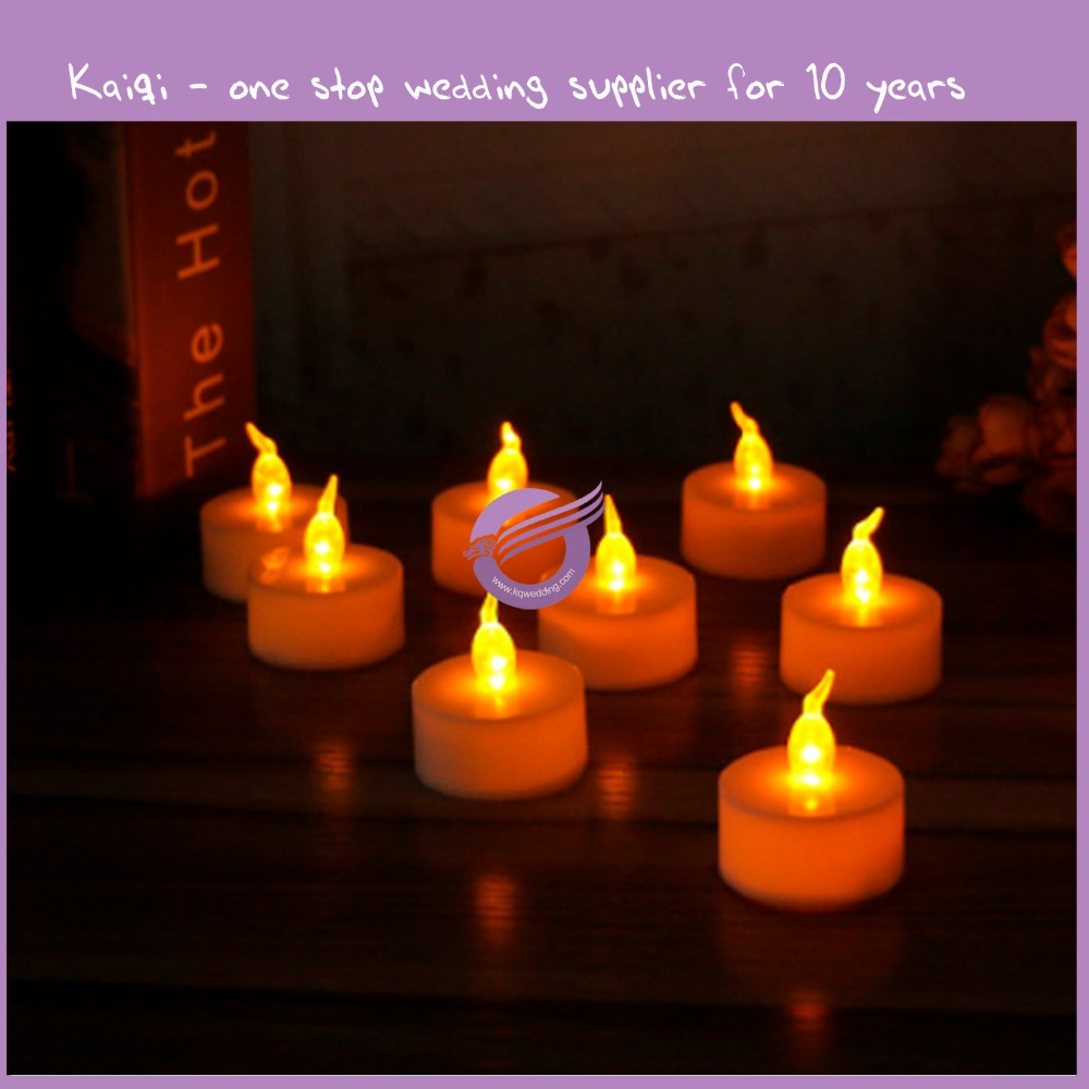 K4566 different white led tealight candles