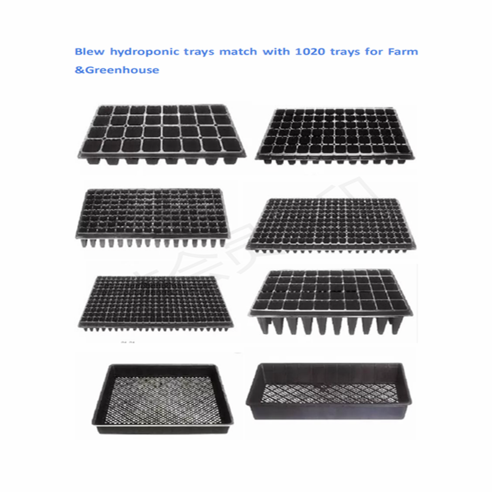 PP Heavy duty ,Extra Strength with Holes Shallow1020 Seed Starting Plant hydroplastic Grow Microgreens Wheatgrass Fodder sprout