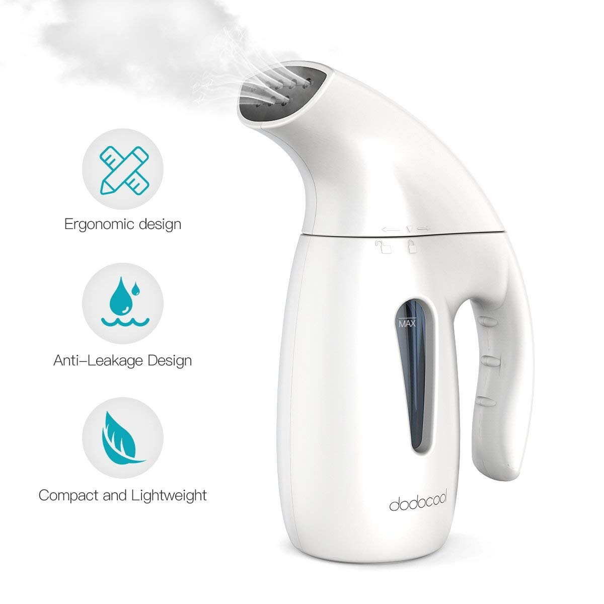 dodocool Steamer For Clothes, 5-in-1 Clothes Steamer,Garment Steamer,Fabric Steamer,Travel Steamer,Handheld Steamer Powerful Steamer Wrinkle Remover With Automatic Shut-Off Safety Protection-180ML