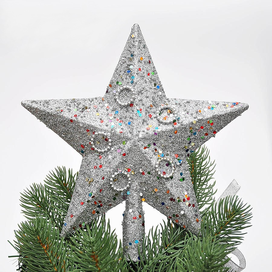 Hot sale christmas tree top star xmas decoration ornament