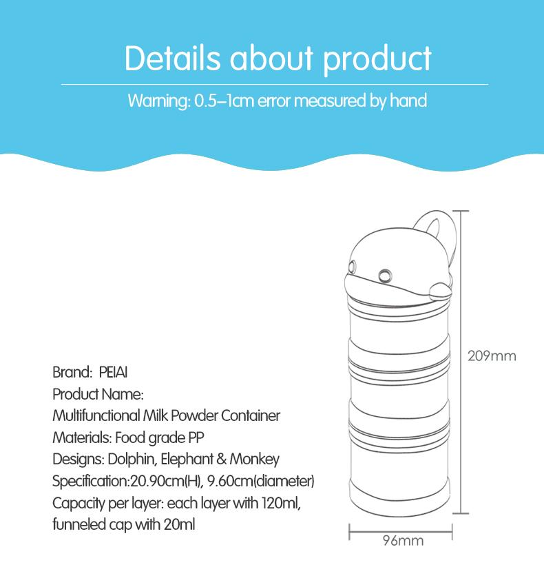 Nieuwe Collectie Mooie Multifunctionele Baby Melkpoeder Container