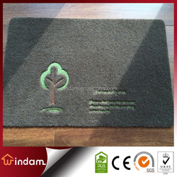 Factory made non-slip polyester embroidery anti-dust mat
