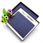 Custom logo eco A4 leather cover organizer pocket attached A5 notebook with pen
