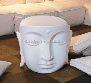 New product fiberglass buddha head chair statue for home decoration