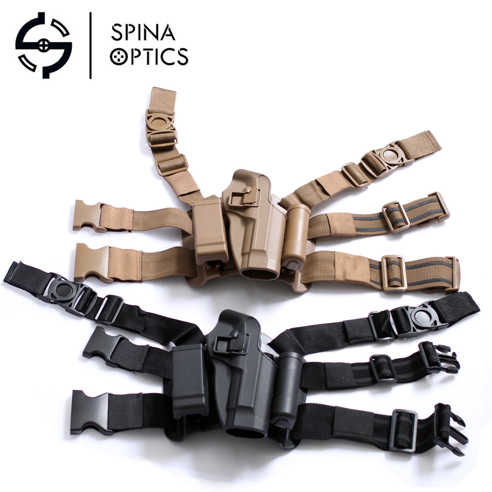 SPINA OPTICS Nylon Gun Military tactical leg Holster for SPINA 92fs 92 96 with Magazine pouch