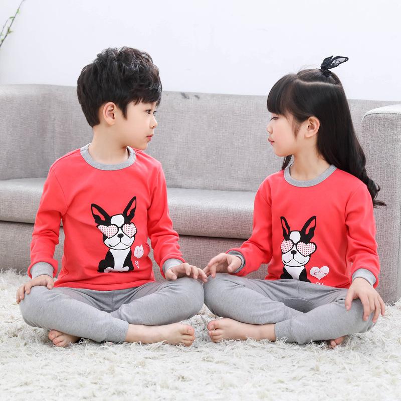 カスタム少女少年少年のパジャマ漫画プリント 18 インチ人形クリスマス服卸売衣服 0-3 年ベビー服セット
