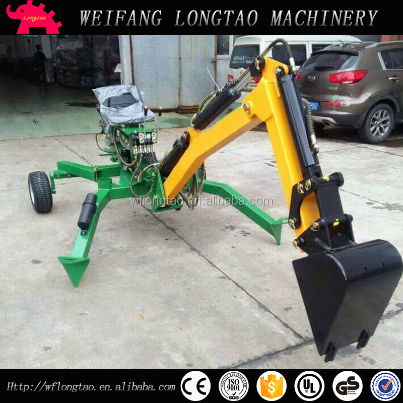 Best quality atv towable 9hp backhoe with joystick CE approved