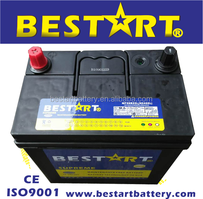 38B20L-MF 12V35AH JIS best auto car battery MF auto battery storage battery