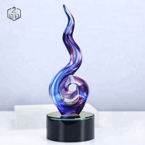 Creative Liuli Crystal Trophy For Honor Gifts