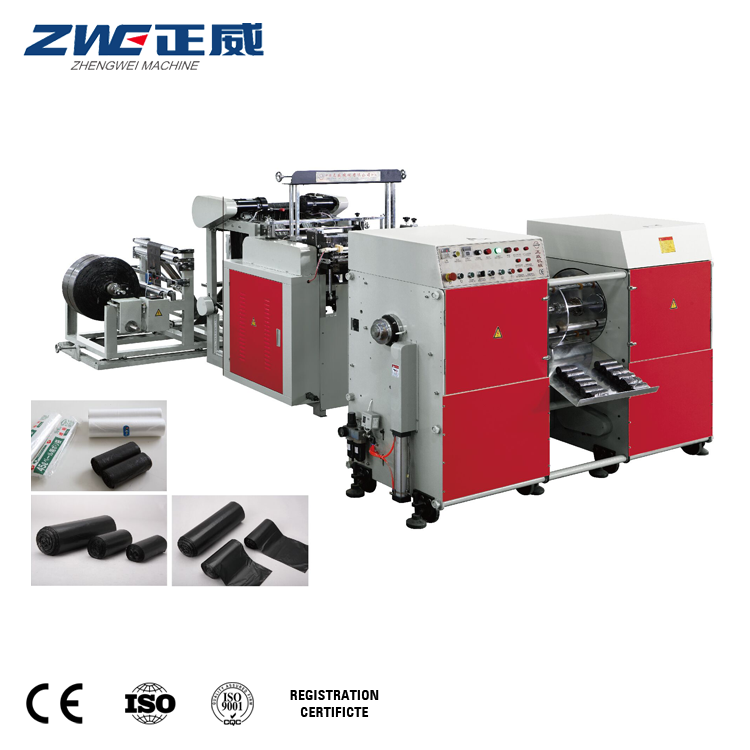 ZW-GB700-2 Nieuwe Model Coreless Rolling Vuilnis Plastic Zak Making Machine