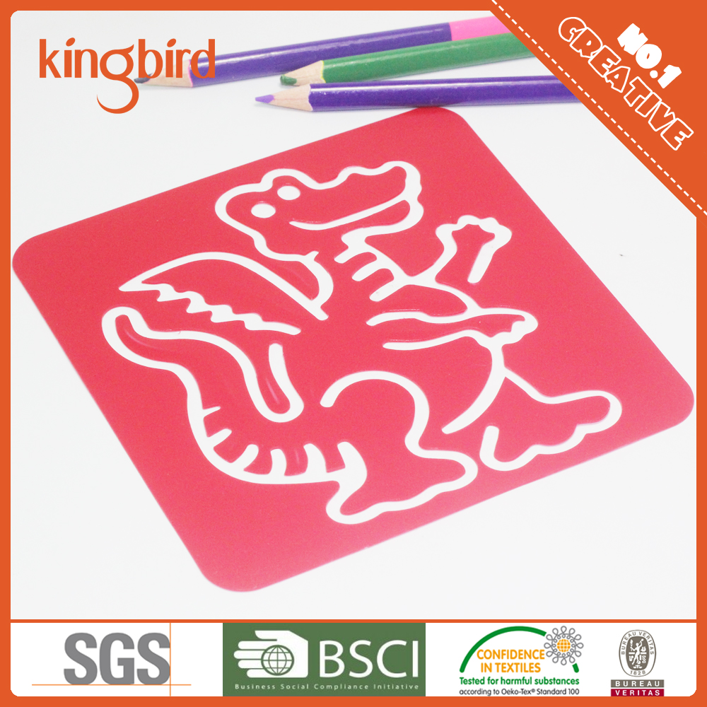 eco-friendly customized shaped pp stencil for children DIY painting