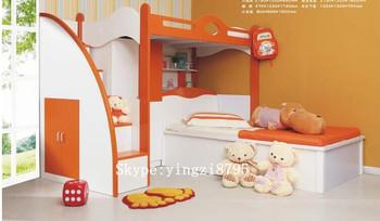 Stapelbed Met Dubbel Bed.Combinatie Ledikant Kind Stapelbed Kind Kleine Kast Kinderen